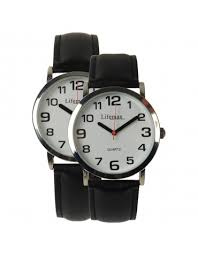 big digit and talking watches clear time watch leather strap mens