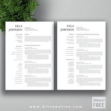 Page Resume Resumes Format For Freshers Free Download Two Examples