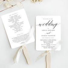 printable program templates 014 wedding program fan templates programs template ideas