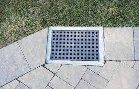 concrete drain landscaping patio