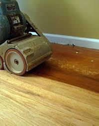 sanding old wax from floor
