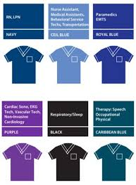 Scrub Color Chart Identifying Your Care Team