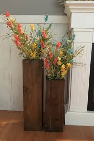 Wooden vases, reclaimed wood, rustic vases, floor vases, set of two,  farmhouse decor, large floor vase, rustic decor, porch decor