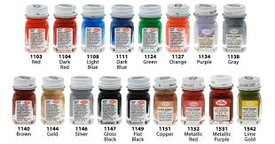 Testors Spray Paint Chart Testors Enamel 1 4 Oz 1100 1500 Series Bottles