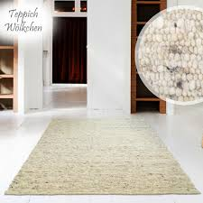 Hand Web Teppich Premium Gewalkt Reine Schur Wolle Im Skandinavischen Design Für Wohnzimmer Esszimmer Schlafzimmer Flur Läufer Kinderzimmer Grau