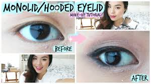 monolid or hooded eyelid makeup tutorial for asian eyes you