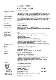 Call Center Resume Examples Adorable Call Center Resume Examples Migrante