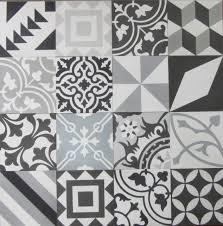 encaustic cement tile patchwork black and white