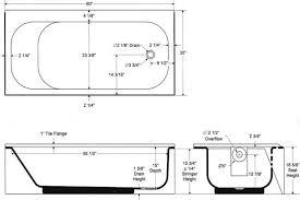 interesting standard bathtub dimensions