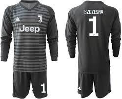 Goalkeeper Long Juventus 19 Jersey 2018 Black 1 Soccer Sleeve Szczesny