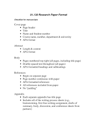 apa research paper the writing center apa research paper