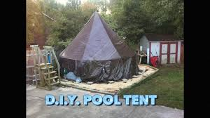 pool tent for above ground pools diy