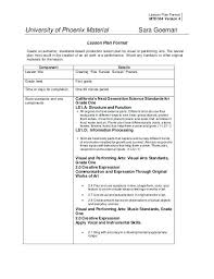 Lesson Plans Formats Elementary Standards Based Lesson Plan Format Template Integrated Lesson Plan