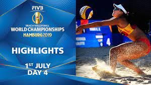 Day 4 - Highlights   FIVB Beach Volleyball World Championships Hamburg 2019  - YouTube