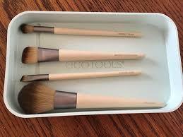 ecotools start the day beautifully make up brush set with tray unused