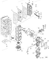 Diagram of 125 4 cyl mercury outboard 0g760300 thru 0t979999 inducition manifold and