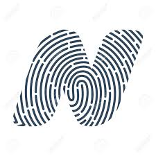 Fingerprint Design N Letter Line Icon Vector Fingerprint Design Detective Audit