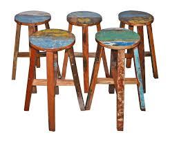 boat wood round breakfast bar stool