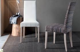 Sedie Schienale Alto Bianche : Sedie da soggiorno moderne tante forme colori e materiali