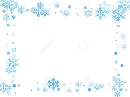 Winter Snowflakes And Circles Border Vector Backdrop Unusual