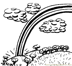 Small Picture Rainbow Coloring Page 06 Coloring Page Free Rainbows Coloring