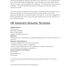 Human Resource Resume Objective Human Resources Resume Objective Examples Assistant Resumes 27
