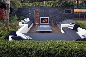 Check out these wonderful ideas for the garden patio is furnished with  modern and comfortable seats. The furniture designs garden hilly landscape  stone ...