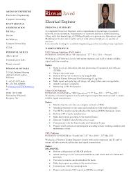 Resume For Electrical Engineer Tomyumtumweb Com