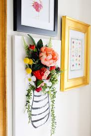>diy 3 d flower canvas art part 1 pinterest flower canvas wall  this 3 d flower canvas is just the piece to make your gallery wall pop via lily val living
