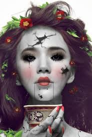 2016 body paint of broken doll that you will like puppet 2016