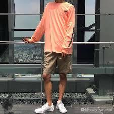 Calabasas Long Sleeve Size Chart 18ss Season 5 Calabasas Long Sleeve Tee Kanye West Embroidery Women Men T Shirts Tees Hip Hop Streetwear Men Women Cotton T Shirt Hflstx290 Cotton