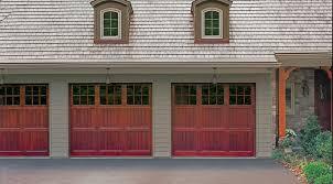 elegant traditional style rail garage doors