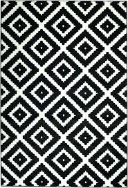 ikea black and white rug nz