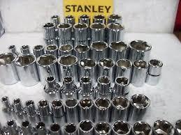 """NEW <b>STANLEY</b> 1/4"""", <b>3</b>/<b>8</b>"""", OR 1/2"""" SHALLOW SOCKET SET SAE ..."""