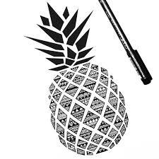 pineapple drawing. pineapple pen! drawing n