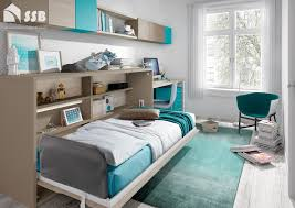 a horizontal single space saving wall bed with a proper comfortable mattress the image