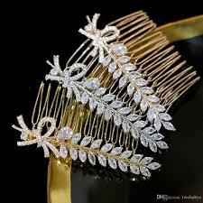 <b>High Quality CZ</b> Crystal <b>Hair</b> Comb <b>Bride</b> Gold / Silver <b>Hair</b> Comb ...