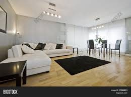 Modern Luxury Living Room Modern Luxury Living Room With White Leather Corner Sofa And Round