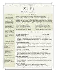 Medical Transcription Resume Samples Helen Goff Resume Medical Transcription resume career Medical 32