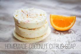 Homemade Soap Recipe - Coconut Citrus Melt and Pour Glycerin Soap Recipe