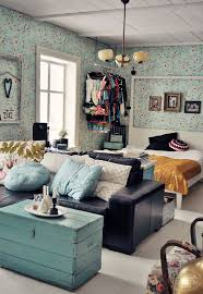 Decorating Studio Apartments Gorgeous Blue Oldschool For The Home Pinterest Small Studio Apartments