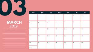 Calendar 2019 Printable With Holidays Blank Calendar For March 2019 Printable With Holidays Template Blank