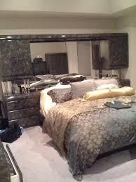 Mirrored Headboard Bedroom Set ~ In Home Designs