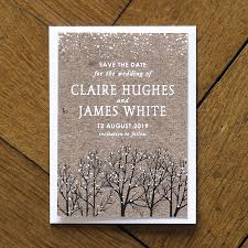 Winter Snow Wedding Invitations And Save The Date By Feel Good