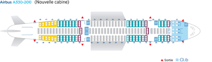 75 True Air Transat Seating Chart A330 200