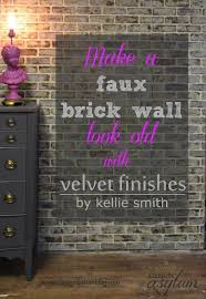 Small Picture DIY Making Faux Brick Walls Look Old Fake walls Faux brick