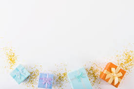 Gifts Background Colourful Gifts On White Background Photo Free Download