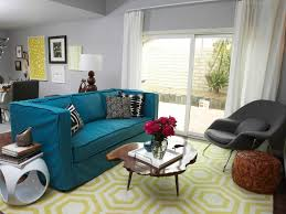 chic blue and yellow living room photos hgtv blue yellow living room