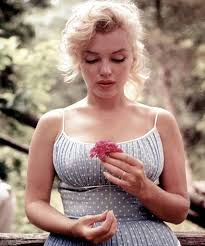 marilyn monroe without makup with flower jpg