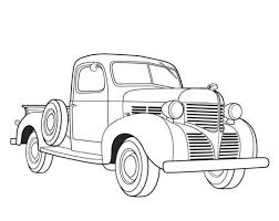 on pick up truck coloring pages